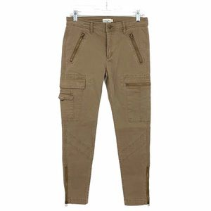 Tasha Polizzi Camel Tan Zipper Cargo Pants